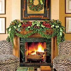 How To Decorate a Mantel for Christmas - Phoebe Howard for Southern Living