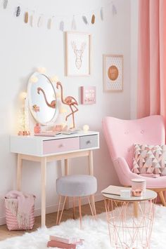Copper And Blush Home Decor Ideas Pretty In Pink Bedroom Palette . - Copper and blush home decor ideas Pretty In Pink Bedroom Palette pretty room decor – Diy Decora - Deco Rose, Teenage Girl Bedrooms, Girl Bedroom Designs, Girls Pink Bedroom Ideas, Pastel Girls Room, Design Bedroom, Childrens Bedroom, Girs Bedroom Ideas, Bedroom Decor For Kids