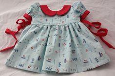Scientific Seamstress Precious Dress- 0-3 months size
