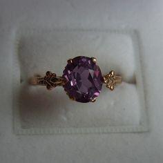 vintage golden ring, USSR, 583 gold