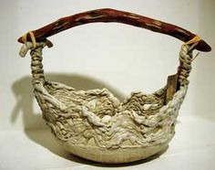 basket (This is ceramic but I'd like to do it in paper mache.)