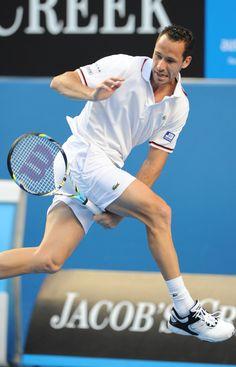 Michael Llodra of France.  Australian Open, January 2012.  #tennis