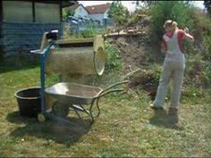 ELECTRIC SOIL SIFTING SIEVE -make something similar (portable) for cleaning bedding!!