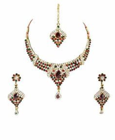 Gold & More Multicolored Polki Necklace Set!  #necklaceset