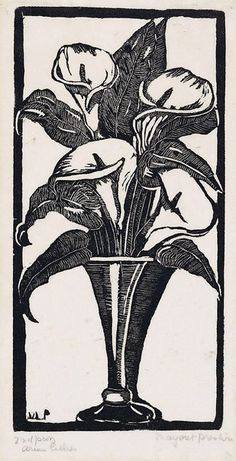 An image of Arum lilies by Margaret Preston