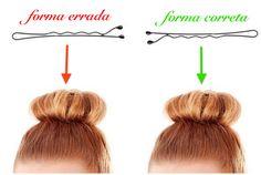 truques usando grampos para cabelo