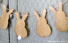 Wood Veneer Bunny Banner...