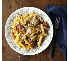 This looks amazing! Check out Lidia's Ziti with Sausage, Onions, and Fennel recipe.