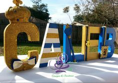 Royal Prince customized letters can be used at baby showers or kids birthday parties for a Royal theme. Celebrate your new bundle of joy or Prince Party Theme, Little Prince Party, Prince Birthday Party, King Birthday, Baby Prince, Royal Prince, Baby Birthday, Birthday Parties, Baby Shower Favors
