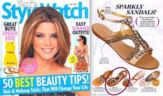 Sparkly Sandals including the Ivy Kirzhner 'Taj Mahal' Sandals, Available at Madison Beverly Hills, are perfect for Coachella! These Boho-Inspired flats with shimmery #crystals and #jewels look so luxe and they're easy to wear!     From the May Issue of PeopleStyleWatch with #covergirl Ashley Greene !