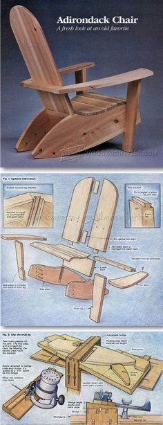 Build Adirondack Chairs - Outdoor Furniture Plans & Projects | WoodArchivist.com #WoodworkingProjectsMen's #WoodworkingPlansAdirondack