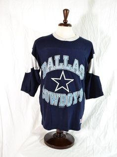 #VINTAGE #DALLAS #COWBOYS #FOOTBALL 3/4 SLEEVE T-SHIRT MENS L NICE CONDITION NFL #NFLTheEdge #DallasCowboys for sale in my @ebay store