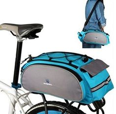 Bike Cargo Boxes - Flii biker Outdoor Sport 13l Bicycle Bag Multishelf Package Bike Mountainbike Rear Seat Pannierbackpacktote Bag ** More info could be found at the image url.