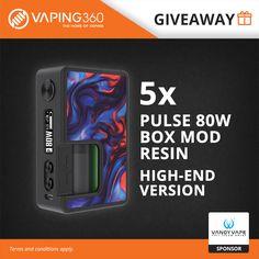 5 x Pulse 80W Box Mod Resin by Vandy Vape
