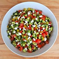 Israeli Salad with Feta and Mint by The Shiksa