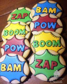 Super Hero Sugar Cookies by Sooieets, via Flickr