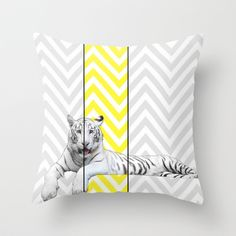 Chevron Tiger Throw Pillow