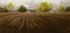 """Clear That Field by Jeri Salter Pastel ~ 12"""" x 24"""""""