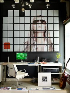 Fantastic and very creative way to hang up a nice picture. by stylist Joe Maer