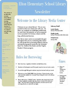 Creating a library newsletter is easy to do with Microsoft Publisher.  In this hub, you will find simple instructions and suggestions for information to include.
