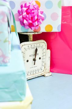 Southern Vintage rentals- vintage baby shower- vintage scale - photo by Christine Anne Photography