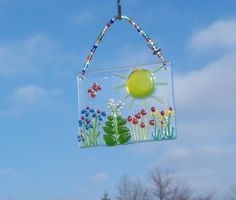 FiElD of  FloWeRs FuSeD GLaSs SuNcAtCheR or by LanieMarieDesigns