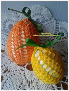 Crochet Edging Patterns, Easter Crochet Patterns, Crochet Doilies, Chrochet, Knit Crochet, Easter Crafts, Happy Easter, Easter Eggs, Tatting