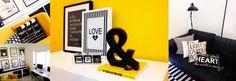 Design/ Napronlove studio/ Yellow/ black and white