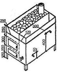 Самодельная металлическая печь-каменка для бани – чертежи, схемы