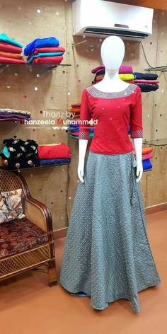 😍😍 Skirt And Top Dress, Long Skirt And Top, Indian Skirt, Indian Blouse, Lehenga Skirt, Lehenga Blouse, Salwar Designs, Lehenga Designs, Ethnic Outfits