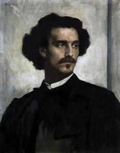 Anselm Feuerbach, Self Portrait, (1873)