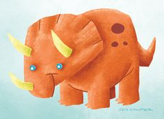 Scientifically inaccurate Triceratops warm-up doodle.