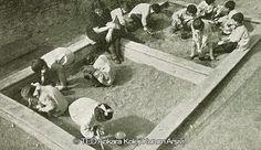 Anaokulu öğrencileri Oyun dersinde, 1940'lar