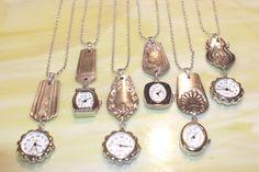 Wholesale Silverware Watch Pendants with Chain. $125.00, via Etsy.