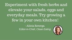 CE Tip 29: Grow herbs at home #EatCleanIn2016