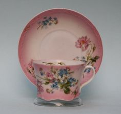 Antique Russian Porcelain Floral Cup and Saucer by Gardner factory circa 1850   eBay