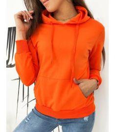 Pomarančová dámska mikina Modivos Dog Walking, Hoodies, Sweatshirts, Jogging, Orange Color, Sporty, Sweaters, Composition, Cotton