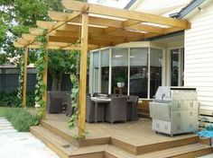 Pergola ideas are a part of building in your house that can cover you from sun light. If you have plants, you can place it inside pergola Diy Pergola, Gazebo, Timber Pergola, Steel Pergola, Cheap Pergola, Outdoor Pergola, Pergola Shade, Pergola Kits, Pergola Ideas