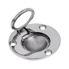 TOOGOOR Cupboard Drawer Metal Flush Mount Pull Ring Handle Silver