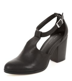 - Adjustable buckle fastening- Block heel- T-bar style- Cut out detail- Leather-look finish Peep Toe Shoes, Shoes Heels, Teen Guy Fashion, Style Noir, Shoe Gallery, Womens High Heels, Block Heels, New Look, Fashion Online