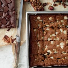 Butterscotch-y, nutty blondies, with miso to add savory depth.
