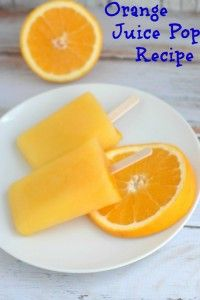 Orange Juice Pops Recipe - Generations of Savings