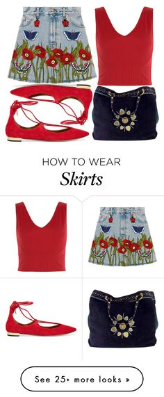 """street style"" by sisaez on Polyvore featuring Gucci, Aquazzura and New Look"