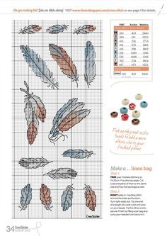 Borduurpatroon Kruissteek Dromenvanger *Embroidery Cross Stitch Pattern Dreamcatcher