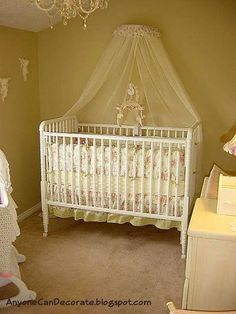 Cute Shabby Chic Baby Girl's Room