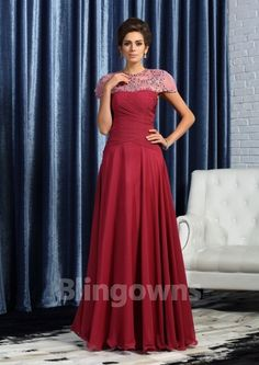 Sleeveless Floor Length Strapless Chiffon Crystals Burgundy A-line Zipper Mother Of The Bride Dresses