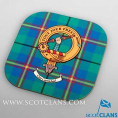 Carmichael Clan Crest Coaster