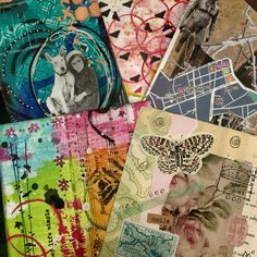 New arrivals from iHanna diy postcard swap. Thank you, Michelle, Ursula, Maria, Ellen and Jenny!! #mailart #diypostcardswap  #ihannadiypostcardswap