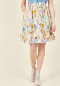 Fro-Yo Information Midi Skirt in XS, #ModCloth