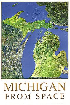 Image detail for -Michigan Satellite Image Map - Michigan from Space